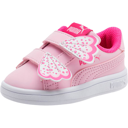 PUMA Smash v2 Butterfly AC Toddler Shoes, Pale Pink-F Purple-White, small