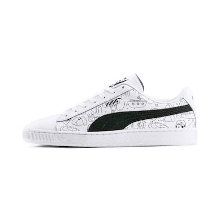 PUMA x TYAKASHA Basket Sneaker, Puma White-Puma Black, small