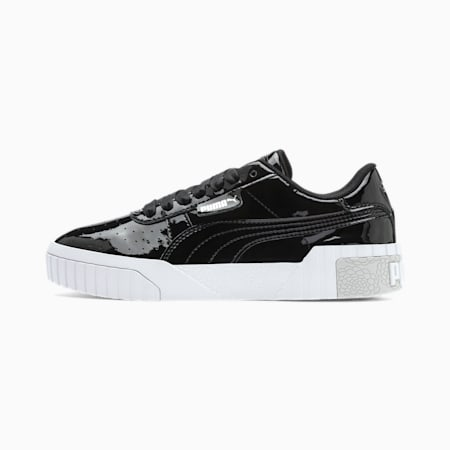 Cali Patent Youth Trainers, Puma Black-Puma White, small