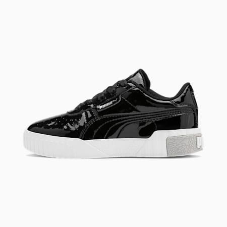 Basket Cali Patent pour enfant, Puma Black-Puma White, small