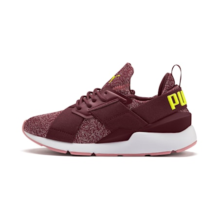 Muse Shift Sneakers JR, Vineyard Wine-Yellow Alert, small