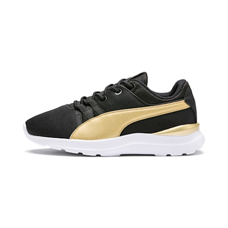 Adela Breathe AC Sneakers PS, Puma Black-Puma Team Gold, small