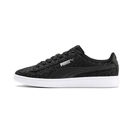 Zapatos deportivosPUMA Vikky v2Wildcat para mujer, Puma Black-Puma Silver-White, pequeño