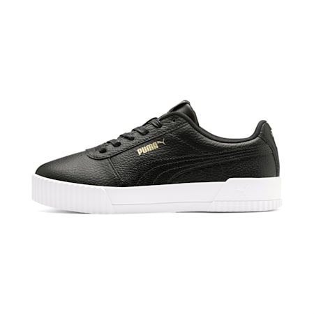 Carina Lux Leather Women's Sneakers, Puma Black-Puma Black, small