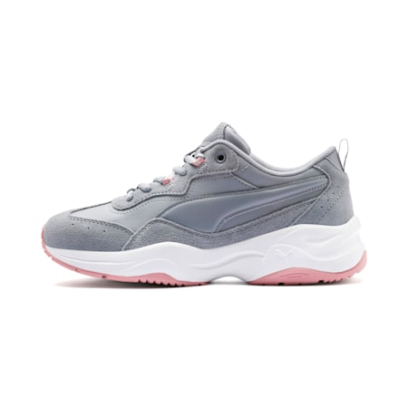 Cilia Suede Women's Trainers, Tradewinds-B Rose-Silver-Wht, small-GBR