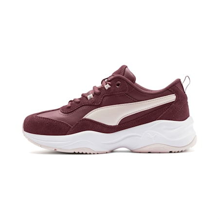 Cilia Suede Women's Sneakers, V Wine-P Parchment-Slvr-Wht, small