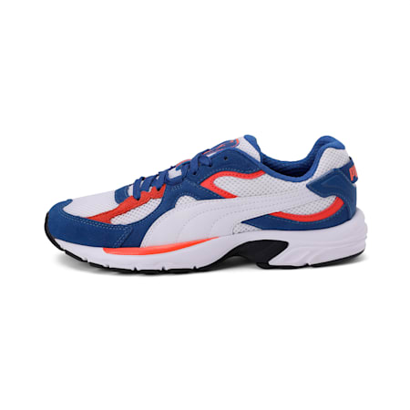 Axis Plus Suede Sneakers, White-G Blue-C Tomato-Black, small-IND