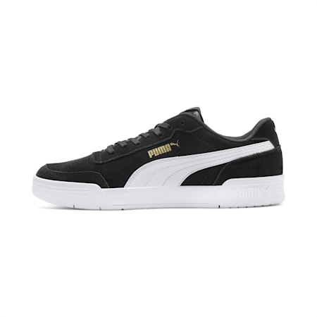 Caracal Suede SoftFoam+ Shoes, P.Black-P.White-P. Team Gold, small-IND