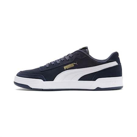 Caracal Suede SoftFoam+ Shoes, Peacoat-P.White-P.Team Gold, small-IND