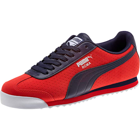 Roma XTG Perf Men's Sneakers, High Risk Red-Peacoat, small