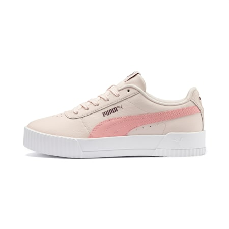 Carina Leather Women's Trainers, Pastel Parchment-Bridal Rose, small-SEA