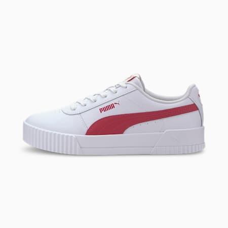 Carina Leather Women's Sneakers, Puma White-BRIGHT ROSE, small