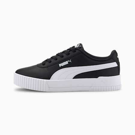 Carina Leather Women's Trainers, Puma Black, small