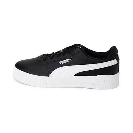 Carina Leather Women's Sneakers, Puma Black, small-IND