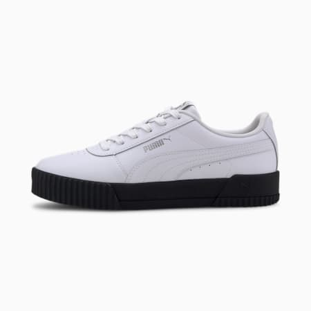 Carina Leather Women's Trainers, Puma White, small