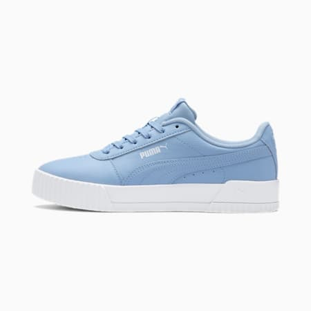 Carina Leather Women's Trainers, CERULEAN-CERULEAN, small