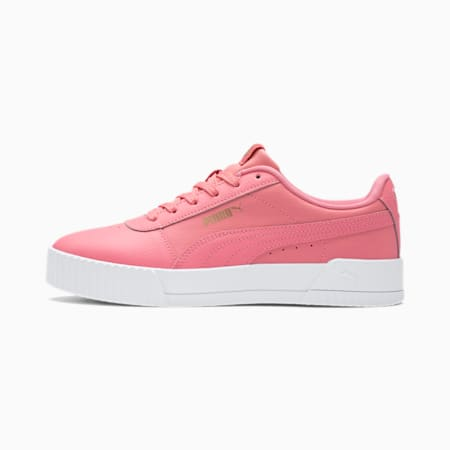Carina Leather Women's Trainers, Salmon Rose-Salmon Rose, small