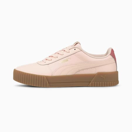 Carina Leather Women's Trainers, Lotus-Lotus-Mauvewood, small-GBR