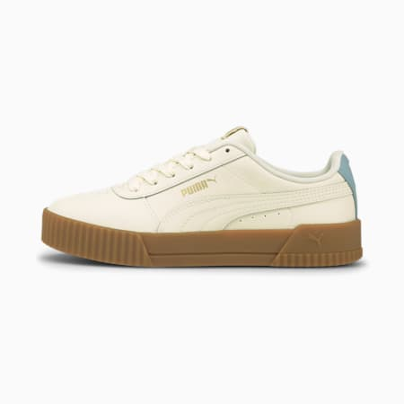 Carina Leather Women's Trainers, Ivory Glow-Ivory Glow-Blue F, small-GBR