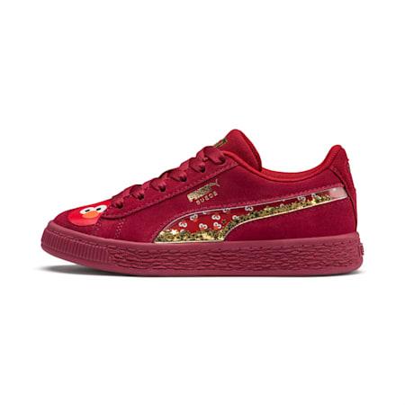 PUMA x SESAME STREET 50 Suede Statement Little Kids' Shoes, Rhubarb-Puma White, small