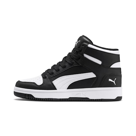 Rebound Lay-Up SL Youth Shoes, Puma Black-Puma White, small-IND