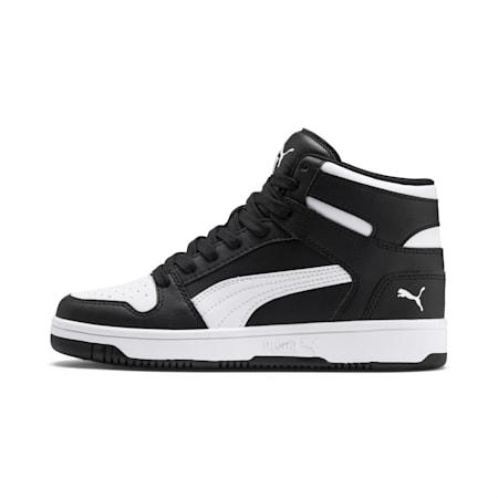 PUMA Rebound LayUp Mid Sneakers JR, Puma Black-Puma White, small