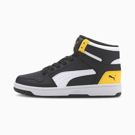 Rebound Lay-Up SL Kid's Shoes, Puma Black-Puma White-Dandelion, small-IND
