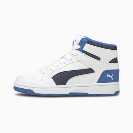 Rebound Lay-Up SL Youth Trainers, White-Peacoat-Star Sapphire, small