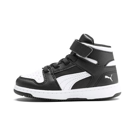 Zapatos PUMA Rebound LayUppara bebés, Puma Black-Puma White, pequeño