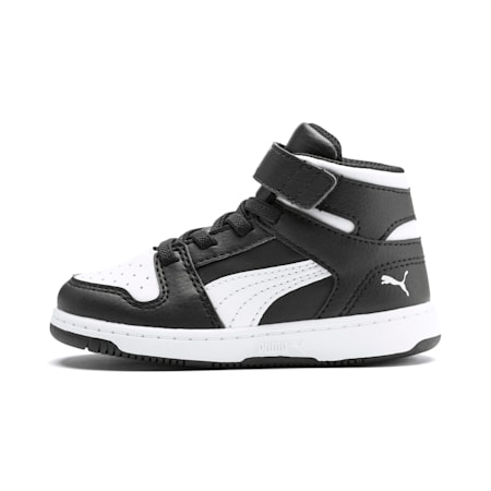 PUMA Rebound LayUp Toddler Shoes, Puma Black-Puma White, small
