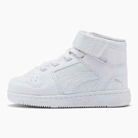 PUMA Rebound LayUp Toddler Shoes, Puma White-Gray Violet, small