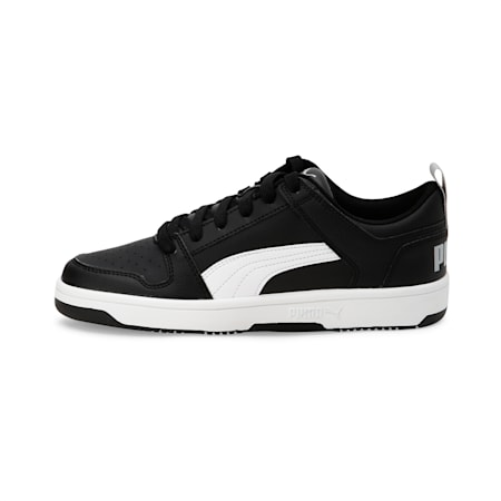 PUMA Rebound LayUp Lo Sneakers JR, Puma Black-White-High Rise, small-IND