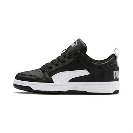 PUMA Rebound LayUp Lo Sneakers JR, Puma Black-White-High Rise, small