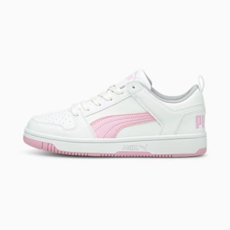 Zapatos deportivos PUMA Rebound LayUp Lo JR, Puma White-Pink Lady, pequeño