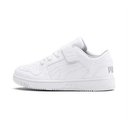 ZapatosPUMA Rebound LayUp Lo para niño pequeño, Puma White-High Rise, pequeño