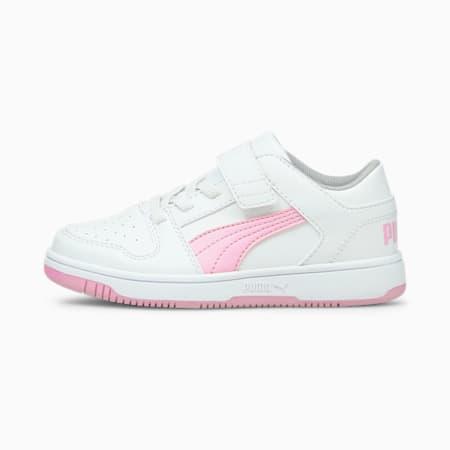 ZapatosPUMA Rebound LayUp Lo para niño pequeño, Puma White-Pink Lady, pequeño
