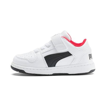 Zapatos PUMA Rebound LayUp Lo para bebés, Puma White-Puma Black-High Risk Red, pequeño