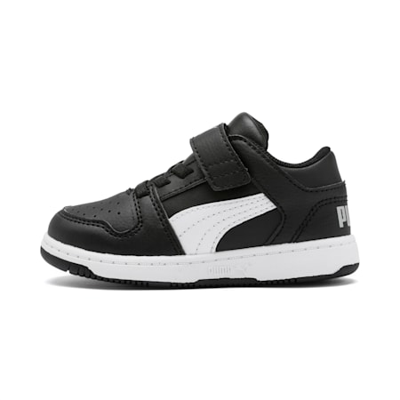 Rebound Layup Lo Babies' Trainers, Puma Black-White-High Rise, small