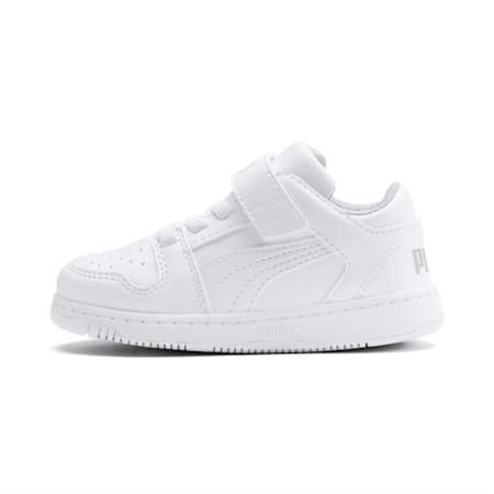 Zapatos PUMA Rebound LayUp Lo para bebés, Puma White-High Rise, pequeño