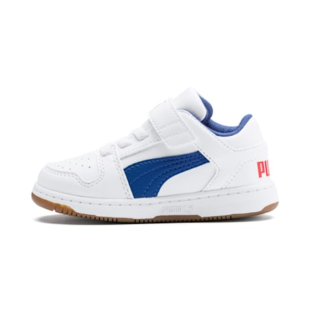 Basket Rebound Lay Up Lo pour bébé, Puma White-Galaxy Blue-Red, small