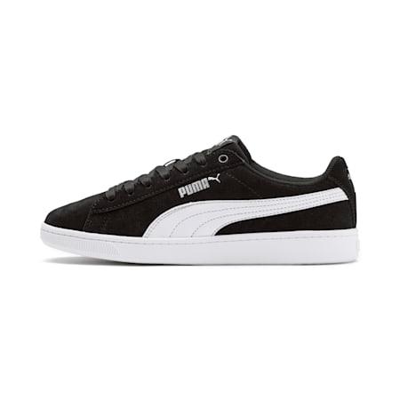 Zapatos deportivosPUMA Vikky v2 Suede JR, Puma Black-Puma White-Puma Silver, pequeño
