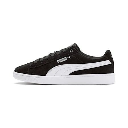 PUMA Vikky v2 Suede Sneakers JR, Puma Black-Puma White-Silver, small