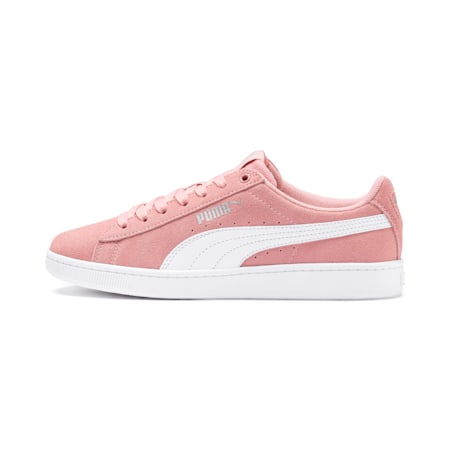 PUMA Vikky v2 Suede Sneakers JR, Bridal Rose-White-Silver, small