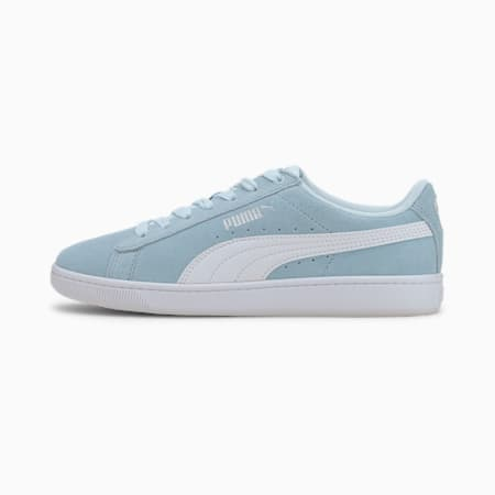 PUMA Vikky v2 Suede Sneakers JR, Omphalodes-Puma White-Silver, small