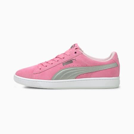 Zapatos deportivosPUMA Vikky v2 Suede JR, Rosa-Plateado-CASTLEROCK-Rosa, pequeño