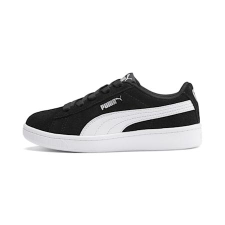 Zapatos PUMA Vikky v2 Suede para niños pequeños, Puma Black-Puma White-Puma Silver, pequeño