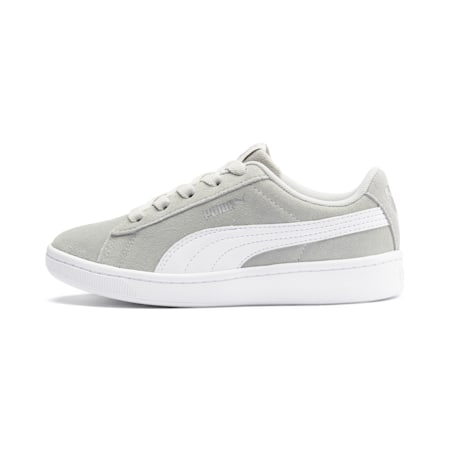 PUMA Vikky v2 Suede Little Kids' Shoes, Gray Violet-White-Silver, small