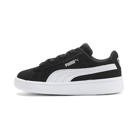 PUMA Vikky v2 Suede AC Sneakers INF, Puma Black-Puma White-Silver, small