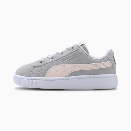 Zapatos deportivos PUMA Vikky v2 Suede AC INF, Gray-Rosewater-Silver-White, pequeño