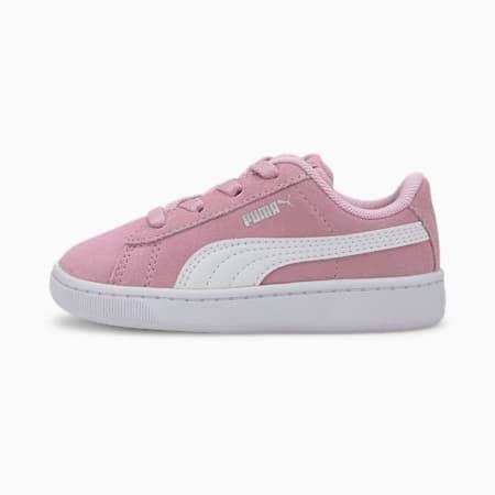 Zapatos deportivos PUMA Vikky v2 Suede AC INF, Pale Pink-Puma White- Silver, pequeño